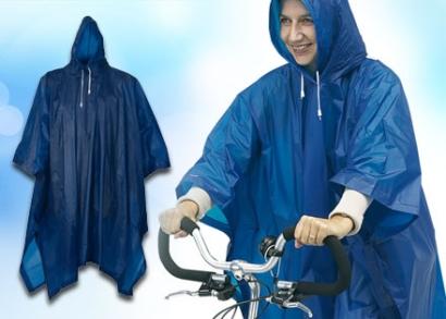 Kerékpáros kapucnis esőköpeny