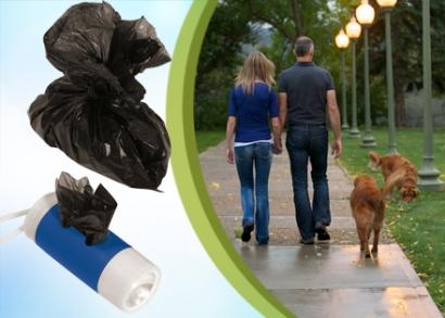 Dogs Helper kutyás zseblámpa gyűjtőtasakokkal