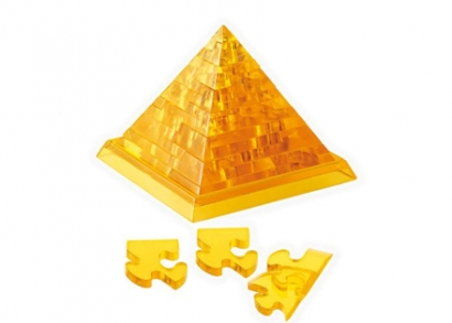 3D kristály puzzle piramis forma