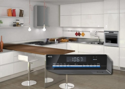 AEG Bluetooth falra szerelhető konyhai rádió, LCD kijelzővel ...