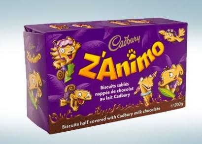 Cadbury Z'animo állatformás keksz
