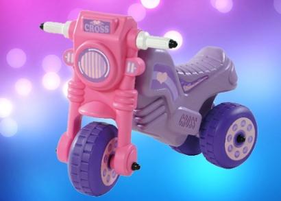 Rózsaszín lila cross motor