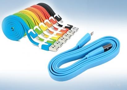 Gumiborítású micro USB adatkábel 4 színben
