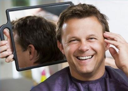 Férfi hajvágás, speciális ampullás kezeléssel