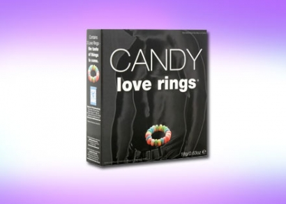 Candy Peppermint Love Rings ehető cukorkagyűrű