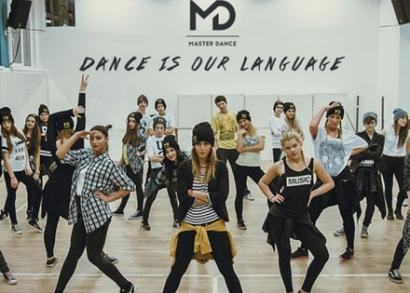 Táncóra diákoknak a Master Dance tánciskolában