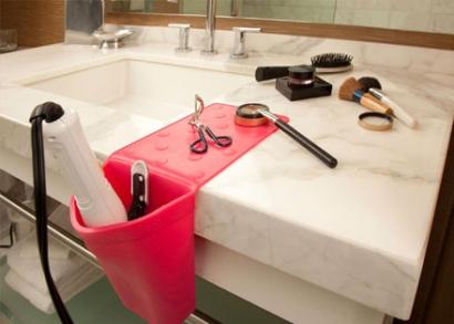 Szilikonos fürdőszobai tartó