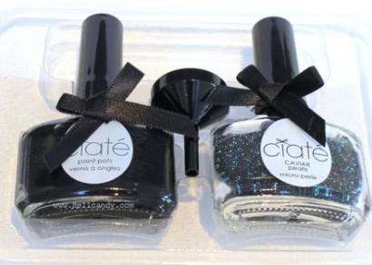 Ciate kaviáros manikűrszett fekete gyöngyökkel