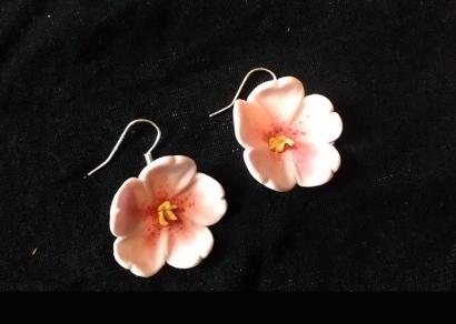 Cseresznyevirág fülbevaló