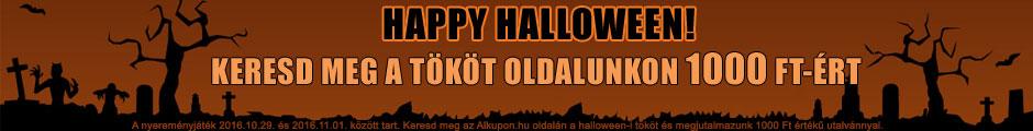 Happy Halloween! Keresd meg a halloween tököt oldalunkon 1000 Ft-ért!